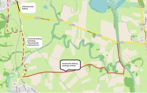 """Verlängerung der """"Raistingerschleife"""" Raisting Diessen Kartengrundlage OpenStreetMap"""